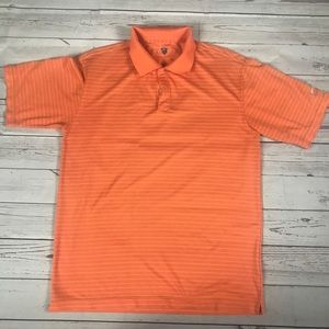 Nike Golf men's orange striped polo Sz M